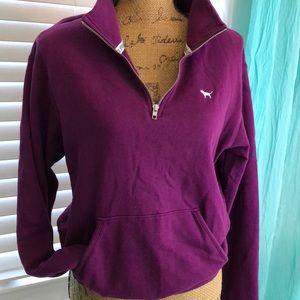 Pink 1/4 zip pullover